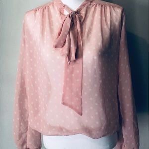 Size Small Pink with White Polka Dots